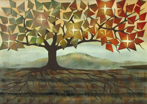 murale 5 soleils