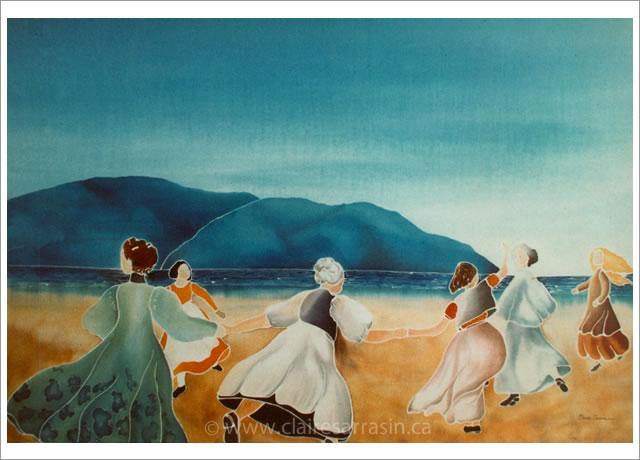 Les danseuses au bord de la mer
